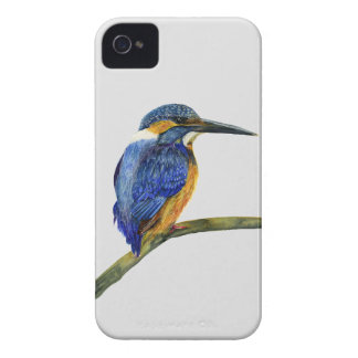Kingfisher Bird Watercolor Halcyon Bird iPhone 4 Covers