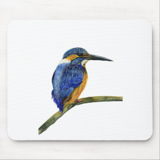 Kingfisher Bird Watercolor Halcyon Bird Mouse Mat