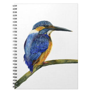 Kingfisher Bird Watercolor Halcyon Bird Notebook