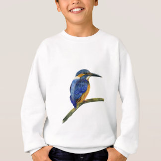 Kingfisher Bird Watercolor Halcyon Bird Sweatshirt
