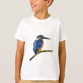Kingfisher Bird Watercolor Halcyon Bird T-Shirt
