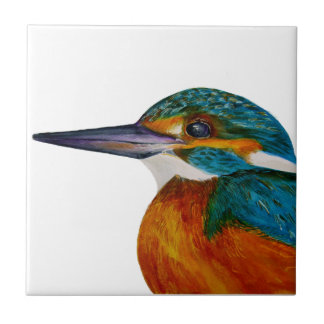 Kingfisher Bird Watercolor Halcyon Bird Tile