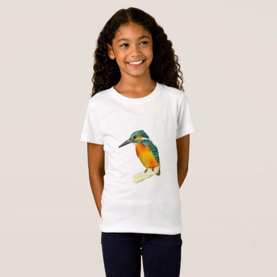 Kingfisher Bird Watercolor Painting T-Shirt