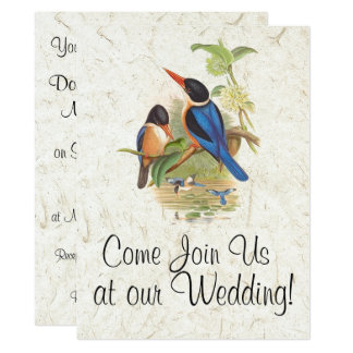 Kingfisher Bird Wildlife Animal Wedding Invitation