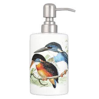 Kingfisher Birds Wildlife Animals Pond Bath Set