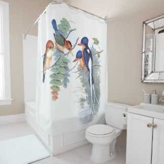 Kingfisher Birds Wildlife Animals Shower Curtain