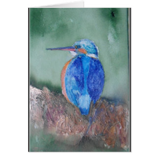 """Kingfisher Blue"" Card"