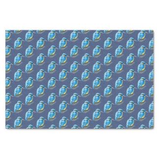 Kingfisher blue custom background color tissue tissue paper