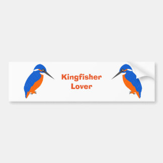 Kingfisher Design Bumper Sticker
