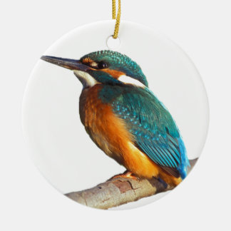 """Kingfisher"" design products Round Ceramic Decoration"