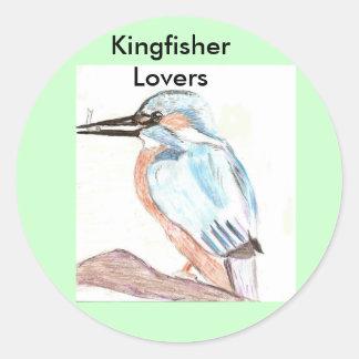 Kingfisher Lover Classic Round Sticker