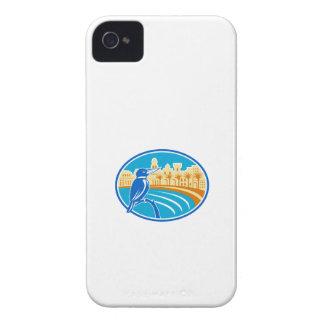 Kingfisher Mediterranean Coast Oval Retro Case-Mate iPhone 4 Cases