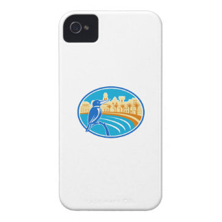 Kingfisher Mediterranean Coast Oval Retro iPhone 4 Case