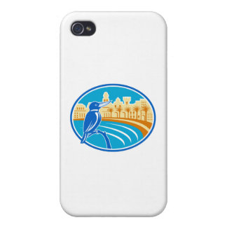 Kingfisher Mediterranean Coast Oval Retro iPhone 4 Cover