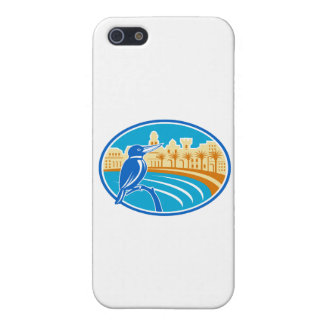 Kingfisher Mediterranean Coast Oval Retro iPhone 5/5S Cases