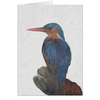 Kingfisher Painting. Card
