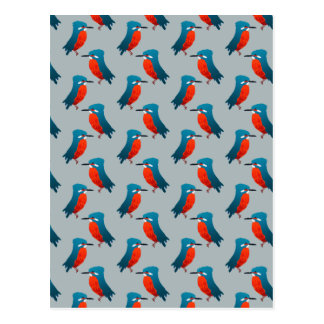 KIngfisher Pattern Postcard