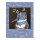 kingfisher postcard (Maine blueberries)