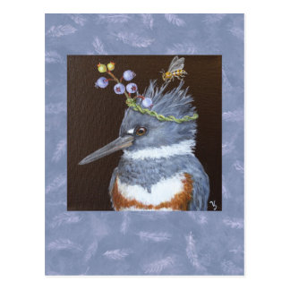 kingfisher postcard (Maine blueberries)
