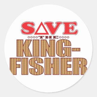 Kingfisher Save Classic Round Sticker
