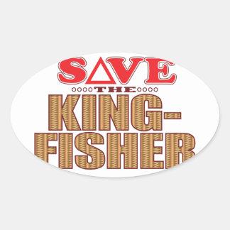 Kingfisher Save Oval Sticker