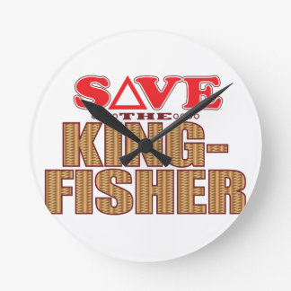 Kingfisher Save Round Clock