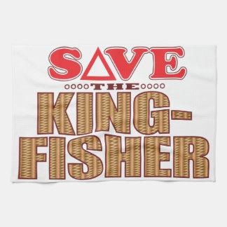 Kingfisher Save Tea Towel