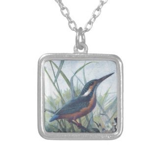 kingfisher silver plated necklace