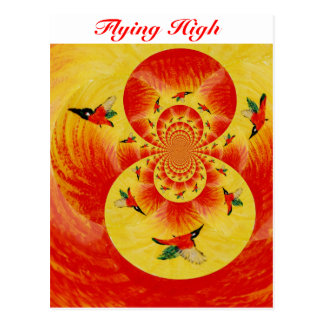 kingfisher Sunburst Abstraxt Art Postcard