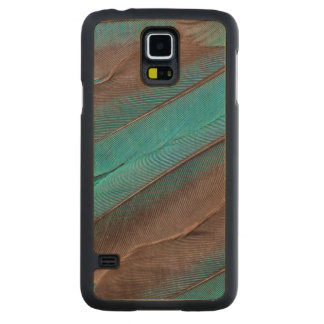 Kingfisher Wing Feathers Carved Maple Galaxy S5 Case