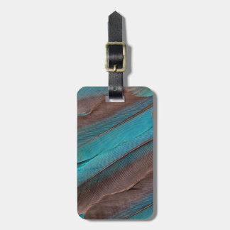 Kingfisher Wing Feathers Luggage Tag