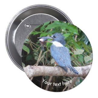 Kingfisher with Fish from Costa Rica Button