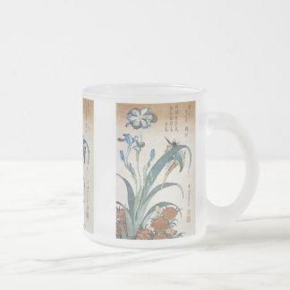 Kingfisher with Irises, Hokusai, 1834,  Mug