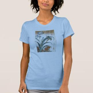 Kingfisher with Irises, Hokusai, 1834 T-Shirt