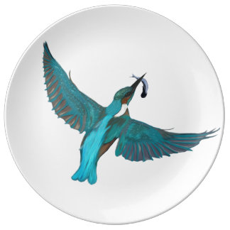 Kingfisher's Lunch II Plate