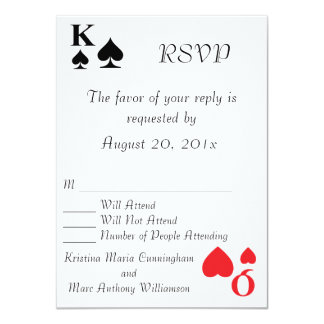 Kings and Queens Playing Card RSVP Announcement