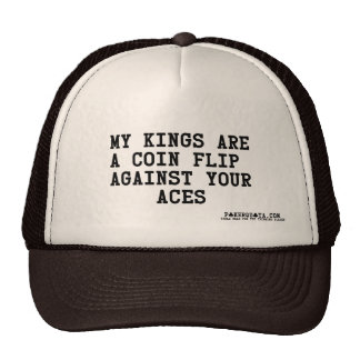 kings are coin flip against your aces poker holdem cap