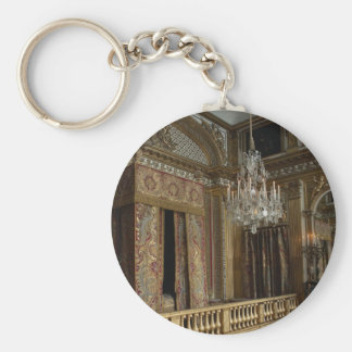 King's bed chamber, Palace of Versailles, France Key Chain
