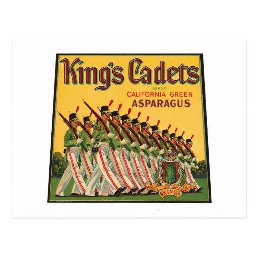 King's Cadets Vintage Asparagus Label Post Cards