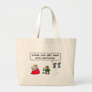kings can get away with anything pooper-scooper jumbo tote bag