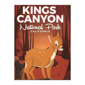 Kings Canyon national park California Canvas Print