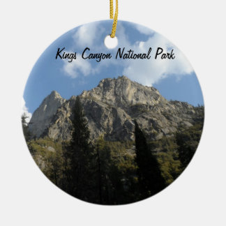 Kings Canyon National Park Round Ceramic Decoration