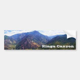Kings Canyon Panoramic Bumpersticker Bumper Sticker
