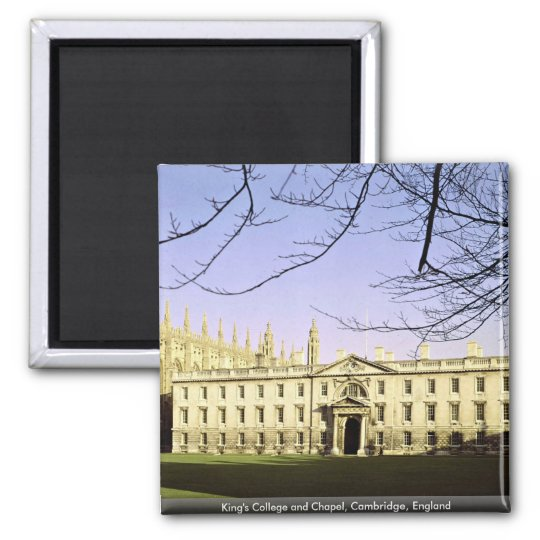 King's College and Chapel, Cambridge, England Square Magnet
