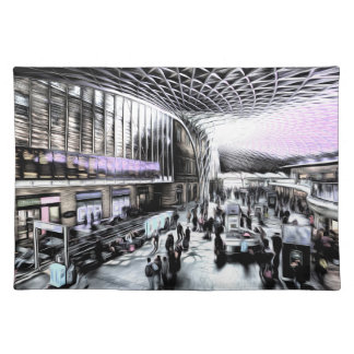 Kings Cross Rail Station London Futuristic Art Place Mat
