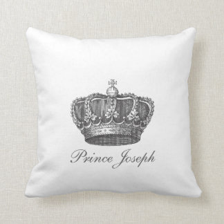 King's Crown Your Text Throw Cushion