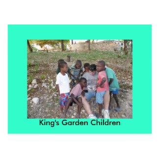 King's Garden Children Postcard