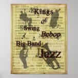 Kings of Swing Bebop Big Band Jazz Poster Print