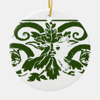 King's Raven Green Man Ornament