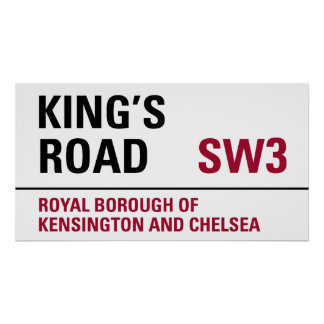 Kings Road Sign